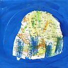 rock in grass by Shylie Edwards