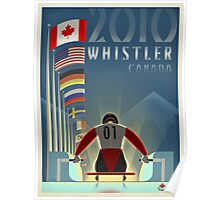 """Olympic Luge"" Whistler, BC Travel Poster Poster"
