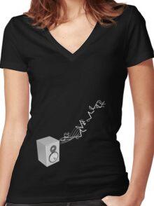Musical Women's Fitted V-Neck T-Shirt