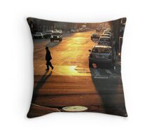 Shadow Man in New York City  Throw Pillow