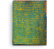 Across the Universe ~ Painted Lyrics Canvas Print