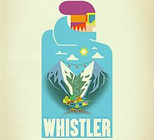 """Blue Bird"" Whistler Village iPhone case by James Tuer"
