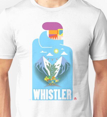 """Blue Bird"" Whistler Village Shirt Unisex T-Shirt"