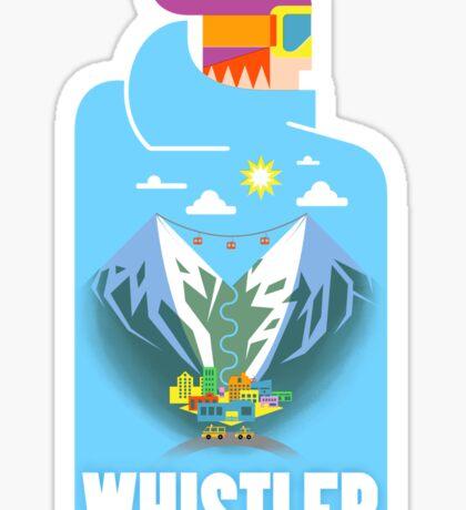 """""""Blue Bird"""" Whistler Village Shirt Sticker"""