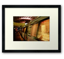 Metro Flash Framed Print