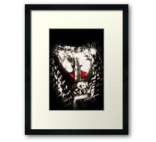 Shh Woman With Secrets  Framed Print
