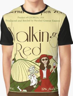 Walking Red: A Fine Wine Graphic T-Shirt