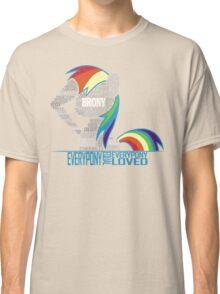 Brony Typography Classic T-Shirt