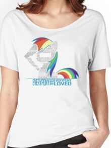 Brony Typography Women's Relaxed Fit T-Shirt
