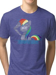 Brony Typography Tri-blend T-Shirt
