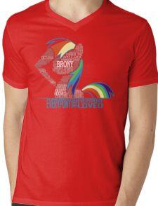 Brony Typography Mens V-Neck T-Shirt