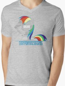 Brony Typography Mens V-Neck T-Shirt