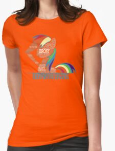 Brony Typography Womens Fitted T-Shirt
