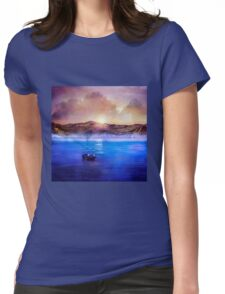 Blue/purple, trip Womens Fitted T-Shirt