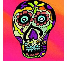 Dia de los Muertos , Day of the Dead - Sugar Skull Photographic Print
