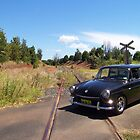 VW Squareback at Railway Crossing by Bami