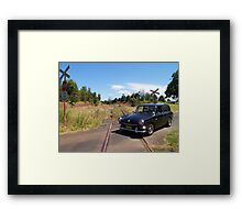 VW Squareback at Railway Crossing Framed Print
