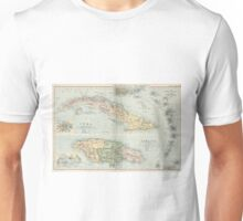 Vintage Map of Cuba and Jamaica (1892) Unisex T-Shirt