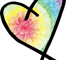 Tie Dye Heart by embati