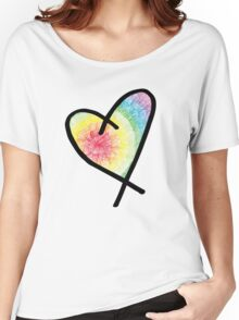 Tie Dye Heart Women's Relaxed Fit T-Shirt
