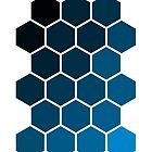 Blue Hexagons by helveticate