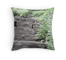 Stairs in the Garden Throw Pillow