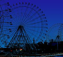ferris wheel city by tinncity