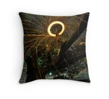 Fire Angel Xmas Tree I Throw Pillow