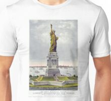 Statue of Liberty Historical Lithograph (1886) Unisex T-Shirt