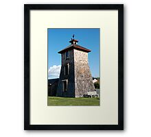 Historic Water Tower, Lopez Island, Washington Framed Print