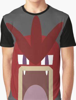 Red Gyarados Ball Graphic T-Shirt