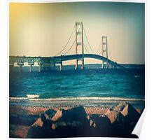 Holga Mackinac Bridge Poster