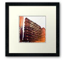 Tenement living Framed Print