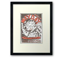 May Day Poster 2011 Framed Print