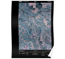 USGS Topo Map Washington State WA Zumwalt 20110406 TM Inverted Poster