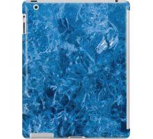 Blue ice abstract iPad Case/Skin