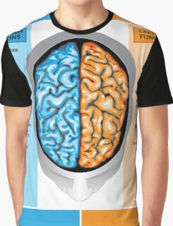 Human brain left and right functions Graphic T-Shirt