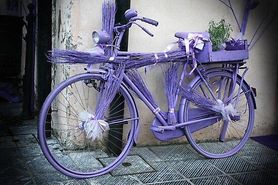 Lavender bicycle by Rob Chiarolli