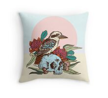 Laughing bird Throw Pillow