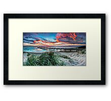 Fire in the Sky - Panorama Framed Print