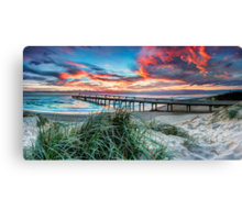 Fire in the Sky - Panorama Canvas Print
