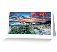 Fire in the Sky - Panorama Greeting Card