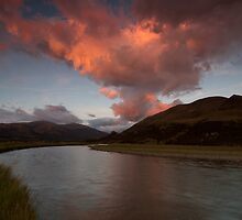 Oreti River Sunset by Ben Rae