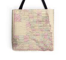 Vintage Map of The Dakota Territory (1880) Tote Bag