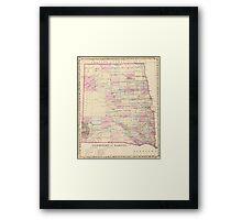 Vintage Map of The Dakota Territory (1880) Framed Print
