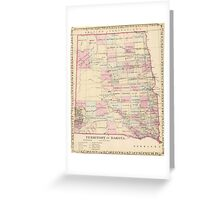 Vintage Map of The Dakota Territory (1880) Greeting Card