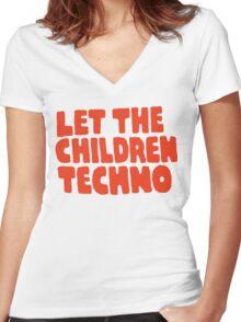 Let The Children Techno Women's Fitted V-Neck T-Shirt