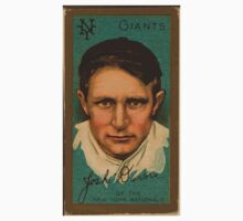 Benjamin K Edwards Collection Joshua Devore New York Giants baseball card portrait Kids Tee