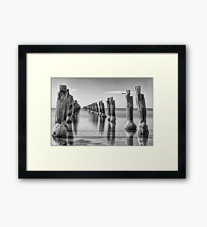 Clifton Springs pier, Bellarine peninsula Framed Print