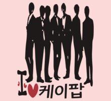 I Heart KPOP in Korean language Kids Clothes